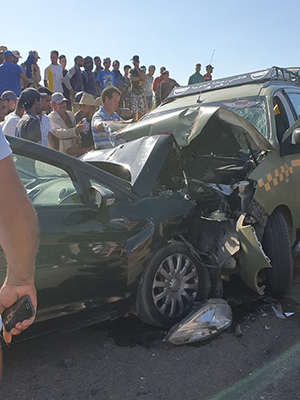 وفاة سيدة و عشرة مصابين في حادثة سير بطريق السواكن