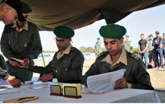 ثكنة العرائش تستقبل المرشحين للخدمة العسكرية