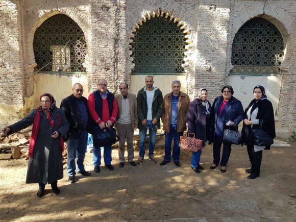 المبادرة المواطنة تقيم عملها المرحلي وتقوم بزيارة لورش ترميم ضريح مولاي علي بوغالب