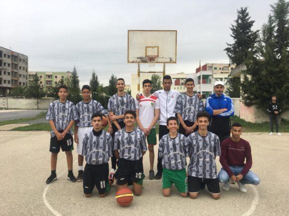 البطولة المحلية لكرة السلة فتيان تعلن الثانوية المحمدية مؤهلة