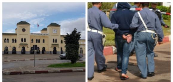 اعتقال متهم بسرقة سلاح وظيفي بمحطة القطار القصر الكبير