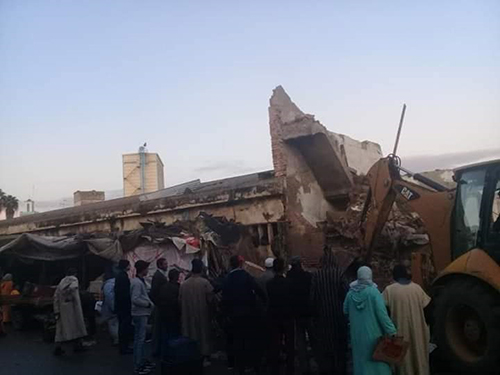 انهيار منزل آيل للسقوط بالقصر الكبير و لجنة من العمالة تحل بالمدينة القديمة غدا
