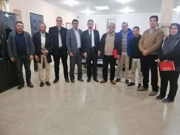لجنة منبثقة عن النقابات الخمس (CDTو UNTM وUMT و UGTM و FDT) عن ثانوية مولاي محمد بن عبد الله تعقد لقاء مع السيد محمد كليل.