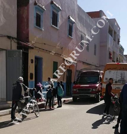 حي اسكرينيا : شخص يفارق الحياة بعا سقوط غامض من السطح