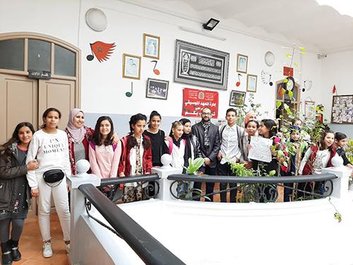 نادي زرياب للموسيقى و الإبداع في زيارة للمعهد الموسيقي