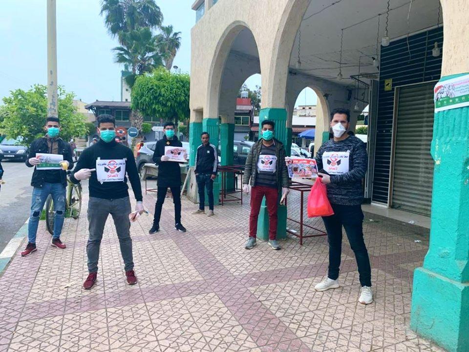"""شباب من القصر الكبير ينظمون حملات تحسيسة بضرورة تفادي انتشار """" كورونا """""""