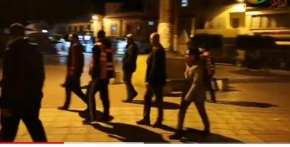 حملة السلطات العمومية لتحذير المواطنين من التواجد بالشارع العام