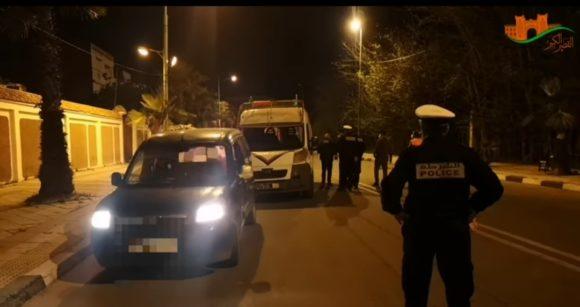 البارجات الأمنية توقف 16 فردا لقيامهم بتجاوزات تخرق الحظر / فيديو