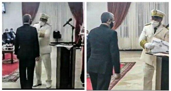 توشيح رئيس الشؤون الإدارية بباشوية القصر الكبير سيف الاسلام نخشى بوسام ملكي