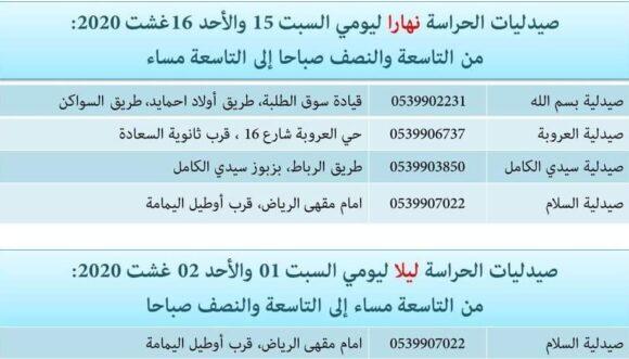 صيدليات الحراسة بالقصر الكبير ليومي السبت 15 والأحد 16غشت 2020