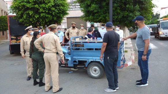 السلطات المحلية بالدائرة الحضرية مو لاي علي بوغالب تقود حملة احترام التدابير الاحترازية