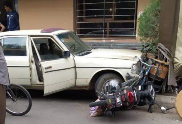 المرينة: جنوح سيارة يخلف أضرارا  مادية